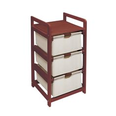 Badger Basket Cherry (Red) 3 Drawer Hamper & Storage Unit