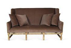 High-Back Velvet Sofa on OneKingsLane.com  Love this! High back furniture makes a room feel grand!