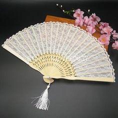 Neu Sommer kühle Faltfächer Hand Fabric Folding Hochzeitsfest Tanz Fan Fächer P//