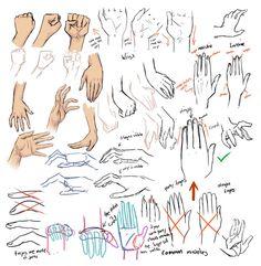 +Drawing hands and tips+ by moni158.deviantart.com on @DeviantArt