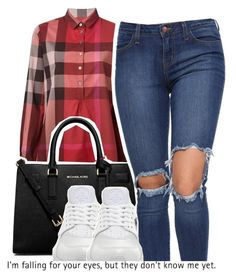 """dope sets 7 2 2016"" by raeebabyy ❤ liked on Polyvore featuring Burberry, MICHAEL Michael Kors and NIKE"