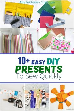 Sew a few easy diy presents in no time! Looking for quick homemade gift ideas that are quick to sew? these diy presents are easy to sew. ideas to sew for kids and adults, free sewing projects youll love to try. Beginner friendly diy gifts to sew. Here are more than 10 ideas you will really need to try out!