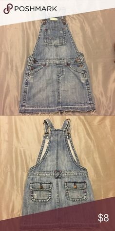 Denim Skirtall Overalls Denim Skirtall Overall FOR KID.  • 100% cotton  • Machine wash • Offers Accepted Old Navy Bottoms Overalls