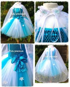 Elsa (Frozen) Inspired Tutu Dress - Dressing up / Costume in Clothes, Shoes & Accessories | eBay