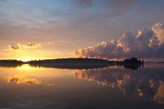 Lake Temagami sunset (2010).  #temagami #laketemagami #temagamimoments