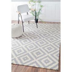 Shop for nuLOOM Handmade Abstract Wool Fancy Pixel Trellis Rug (7'6 x 9'6). Get free shipping at Overstock.com - Your Online Home Decor Outlet Store! Get 5% in rewards with Club O!