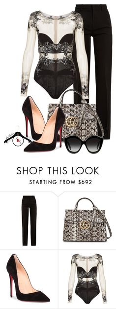 """Fortunately"" by spivey-adrian ❤ liked on Polyvore featuring Gucci, Christian Louboutin and La Perla"