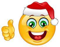 Emoticon de la Navidad Foto de archivo