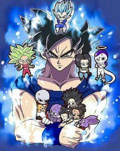 Dragon Ball Z, Dragon Ball Image, Chibi Goku, Goku Pics, Vegito Y Gogeta, Cute Couple Tattoos, Dragon Images, Chibi Characters, Cute Dragons
