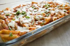 skinny 3 cheese penne recipe serves 8 low fat low calorie low sodium and vegetarian