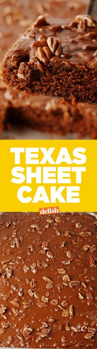 Hey Texans, did we do your famous chocolate cake justice? Get the recipe from Delish.com.