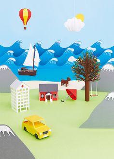 Micro paysage en papier