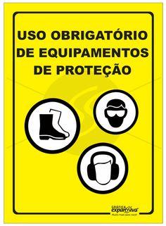 Placas de sinalização Segurança uso obrigatório de equipamento de proteção 6c97b23481