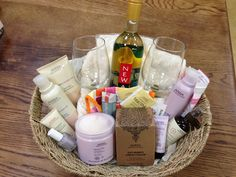 I did this for a raffle basket, but what women wouldn't want this? Perfect for a lazy spa night at home! Aveda products are my favorite!