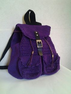 Mochila Crochet morado