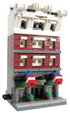 Lego Mini Modular Thomson Building; Front | by T.Oechsner