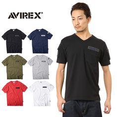 AVIREX アビレックス 6143386 FATIGUE VネックTシャツ