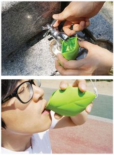 Leaf Shaped Silicone Pocket Cup Professes Your Love For The Planet - OhGizmo! ohgizmo.com