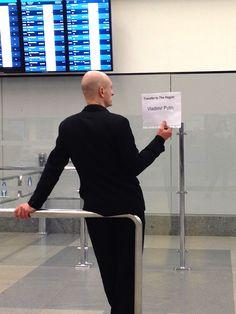 Seen at Prague 's Václav Havel Airport, international arrivals. (credits: S.) Spread the weird The Hague, Weird Things, Prague