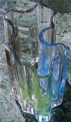 Tradera ᐈ Köp & sälj begagnat & second hand Stig Lindberg, Crystal Glassware, Glass Design, Scandinavian Design, Fused Glass, Finland, Mid-century Modern, Glass Art, Container