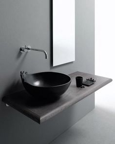 Invisible Bathroom Sink Made Of Marble And Glass - Almost invisible minimalist kub bathroom sink by victor vasilev