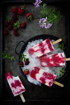 The Bojon Gourmet: Tayberry, Rose Geranium + Buttermilk Popsicles popsicle photography