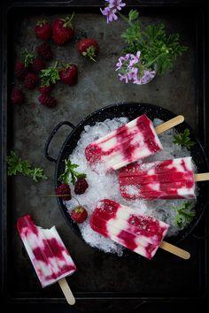 The Bojon Gourmet: Tayberry, Rose Geranium + Buttermilk Popsicles