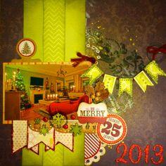 Christmas 2013 - Sketchabilites #105 layout - Scrapbook.com