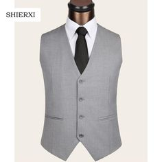 2017 New Men's Clothing Slim Colete Masculino Cotton Double Breasted Sleeveless Jacket Waistcoat Men Suit Vest