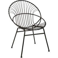 "Stylish and a major statement piece, this black iron metal side chair is a sculptural phenomenon in a retro modern design. - Dimensions: 32.75""H x 23""W x 33""L - Material: 100% Iron - Shipping: Ships w"