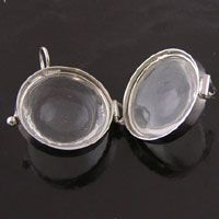"""1.2"""" Our Glass Magnifying Shadow Box Pendant Locket, pack of 2"""