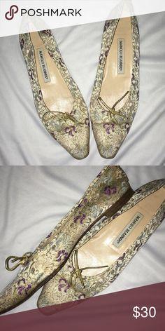 Manila Blahnik flats Printed material flats Manolo Blahnik Shoes Flats & Loafers