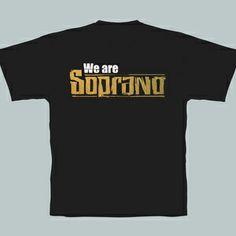 """T-Shirt pour Homme : T-Shirt pour homme collector """"We are Soprano"""" de couleur noire"""