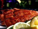 Triple Citrus Glazed Grilled Salmon Recipe : Patrick and Gina Neely : Recipes : Food Network Grilled Salmon Recipes, Fish Recipes, Seafood Recipes, Cat Recipes, Seafood Dishes, Healthy Recipes, Oven Baked Salmon, Glazed Salmon, Kitchens
