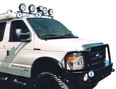 Sportsmobile Custom Camper Vans - Bumpers and Options for Ford Vans