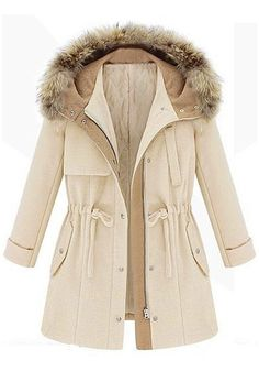 Women's Plus Size Down Jacket with Faux Fur Trim Hood | Hoods, Fur ...