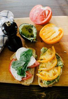 Tartines With Mozzarella, Basil, and Nectarines | Recipe | Mozzarella ...
