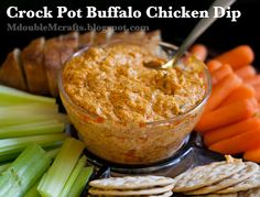 Crock pot buffalo chicken dip- doubled this for our 4th of July picnic! Everyone loved it, and it wasn't too spicy!