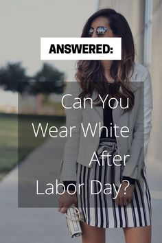 Can you wear white after Labor Day? I'm answering that question on the blog!!-->> http://www.myviewinheels.com/2017/09/18/white-after-labor-day/ Winter whites, fall colors, white jeans, white sweater