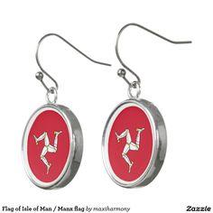 Flag of Isle of Man / Manx flag Earrings