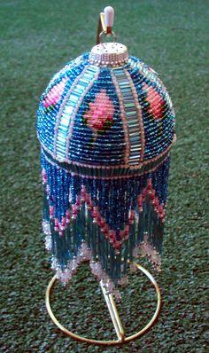 Beaded Ornament Cover Tiffany