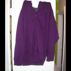 U.S. Polo purple Jacket Hoodie, zip front Jackets & Coats