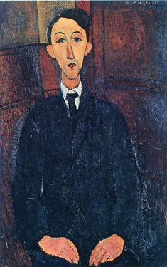 Portrait of the painter Manuel Humbert  - Amedeo Modigliani