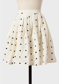 ShopRuche.com Deborah Polka Dot Skirt In Cream