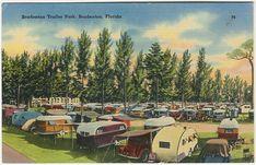 Old Trailer Park Pictures | PM 1946Bradenton Trailer Park,Bradenton, Florida74; 69600(Tichnor ...