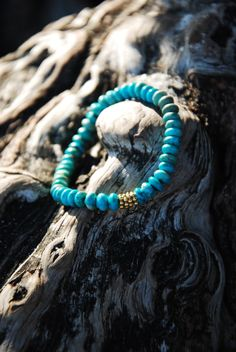 Turquoise and Gold Vermeil/ Stacking by silentmeditations on Etsy