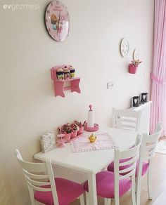 Kitchen, Pink, Kitchen table, Kitchen accessory, White kitchen - New Design Bedroom Closet Design, Bedroom Decor, Drawing Room Furniture, Kitchen Room Design, Boho Home, Decoration Table, Beautiful Kitchens, Shabby Chic Furniture, Home Decor Styles