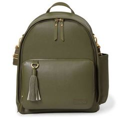 product image for SKIP*HOP® Greenwich Simply Chic Diaper Backpack in Olive