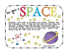 silent e in space game. great for kids struggling with CVCe words-lit lab kiddos Word Study, Word Work, Phonemic Awareness Kindergarten, Kindergarten Centers, Literacy Centers, Teaching Reading, Teaching Kids, Cvce Words, Literacy Games