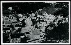 Nord-Trøndelag fylke NAMSOS. Lavika. Fint motiv med mye bebyggelse utg J. H. Küenholdt